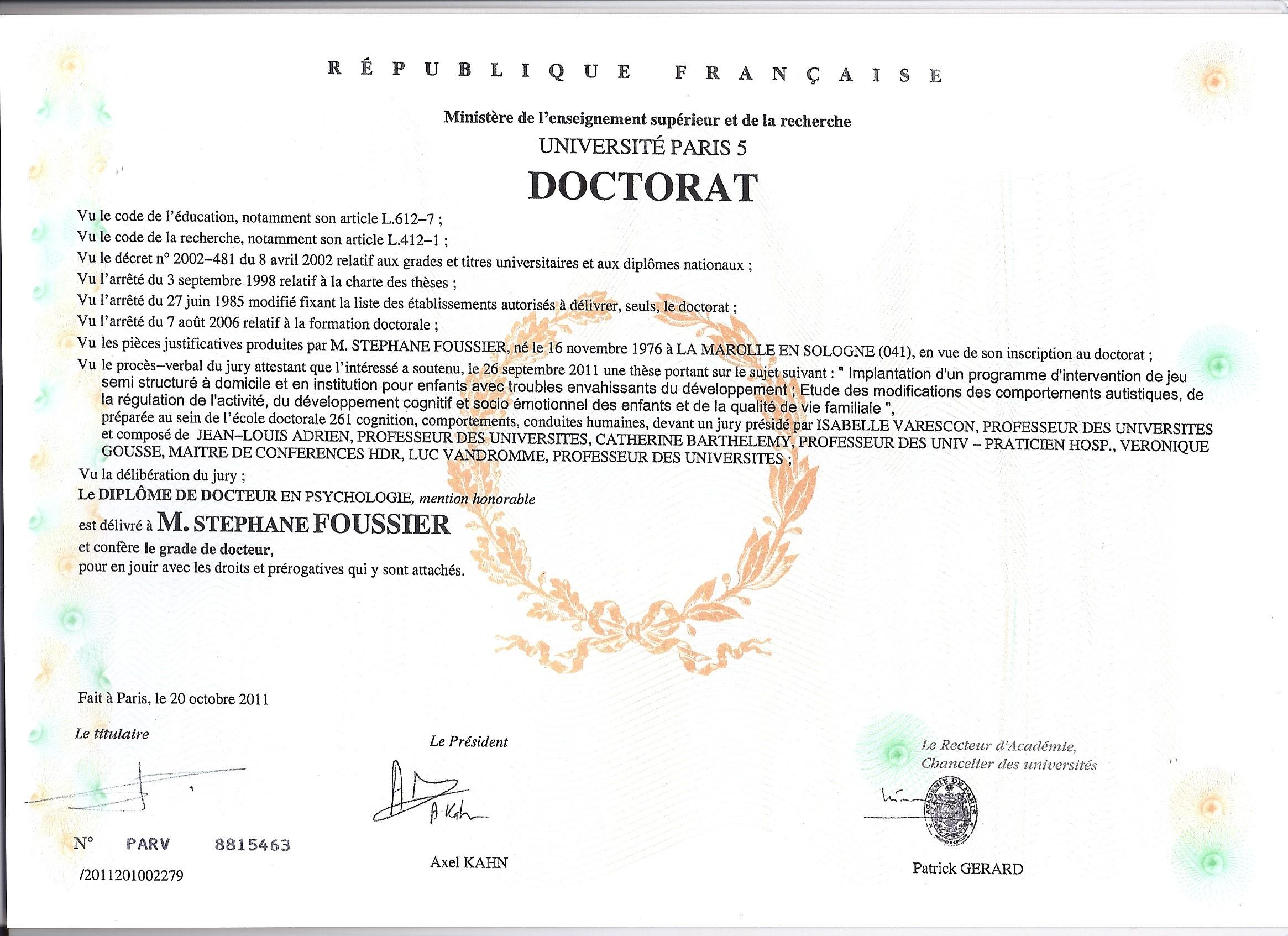 cabinet de psychologie des vall u00e9es  u2013 titres et dipl u00f4mes